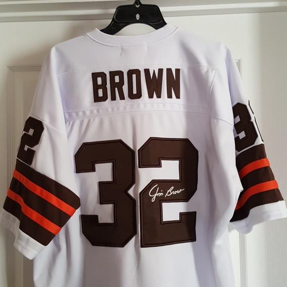 super popular b926d 8a8f2 Cleveland browns 1964 throwback Jim brown jersey